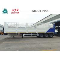 Quality White Color 40 Feet Fence Cargo Trailer , High Side Wall Trailer With 3 Axle for sale