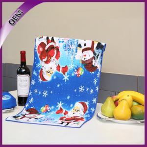 Quality Sublimation Printing Microfiber Dish Towel Chrismas Printed Kitchen Towel for sale