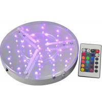 Best ROHS UL Multicolor Round Led Light Base Waterproof For Event Party , IR Remote wholesale