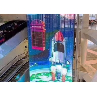 Quality P3.91-7.81 1000x500mm Transparent Led Mesh Screen for sale