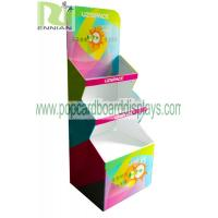 Best Color printing cup Corrugated Cardboard Display stand glossy lamination ENCC125 wholesale