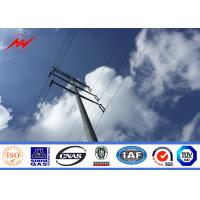 Quality 11.88m-1200 Dan Load Electric Steel Utility Power Poles Hot Dip Galvanized for sale