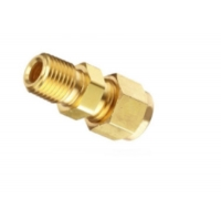 Quality Double Ferrule Compression Heat Exchanger Components Brass Union Connector for sale