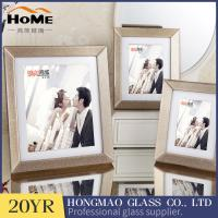 Quality Gold border beveled glass picture frames 6 x 8 Fashionable design for sale