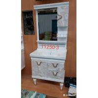 China Water Transfer Printing PVC  Bathroom Cabinet / Mirrored Bathroom Cabinet With Legs on sale