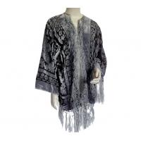 China Customized lady's Nylon or silk beautiful burnout velvet shawl for winter on sale