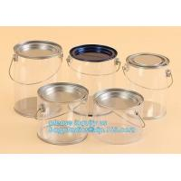 Quality aluminum tin aluminum container jar with clear window top aluminum cans with screw lid for cosmetic/food bagplastics pac for sale