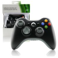 Quality Plastic Xbox 360 Wireless Controller Black , Gamepad Controller For Xbox 360  for sale