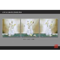 Quality 3D 4D 5D Faux Tile Wall Panels Bamboo Fiber Calla Lily Pattern Fireproof for sale