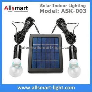 China 4000mAH Li-ion Battery 2pcs 3W 20LED Bulbs Solar Home Kits Indoor Lighting DC Solar Garage Barn System 3W Solar Panel on sale