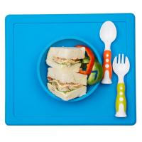 Best Customized FDA Silicone One-piece Silicone Placemat + Bowl wholesale