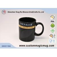 Best Black Glazed Stoneware Custom Magic Mug Heat Reactive Unique wholesale
