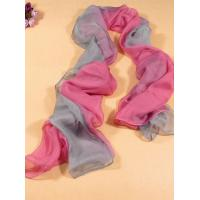 China 2013 new fashion pink and gray gradient color Hand Painted Silk Scarf/chiffon scarves shawls on sale
