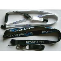 China Mobile phone strap silk screen printing lanyard on sale