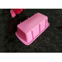 OEM Pink Reusable Rectangle Rubber Silicone Cooking Molds Bread Bakeware