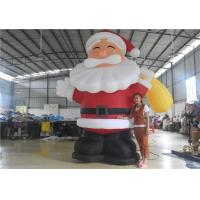 Quality European Standard Inflatable Cartoon Characters , 3m Inflatable Santa Claus for sale