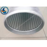 Quality Low Carbon Galvanized Water Well Screen Excellent Pressure Resistant for sale