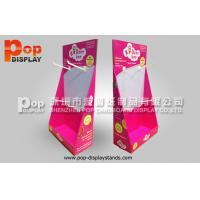 Quality Hooks Red Corrugated Cardboard Display recyclable For Pacifiers In Shop for sale