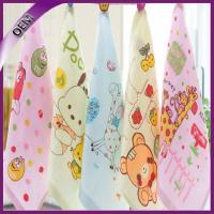 Quality 100% Cotton Thin Gauze Cartoon Printing Baby Hand Towel for sale