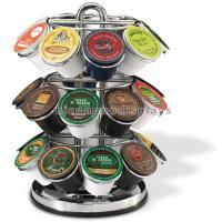 Best Retail Store Counter Display Racks 3-Tier Commercial Stainless Steel 24 K-Cup Holder wholesale