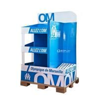 Best Creative Pop Advertisement Display Stands , Exhibition Cardboard Display Shelves wholesale