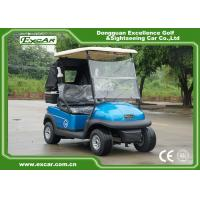 Quality 2 Person Electric Golf Car With 3.7KW Motor Italy Graziano Axle Blue Color for sale