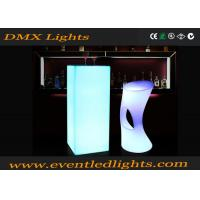 Best CE Passed Multi Color Changing commercial portable led cocktail table high top wholesale