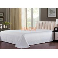 Quality Plain / Jacquard Hotel Bed Sheets For Single / Double / Queen / King Size Bed for sale