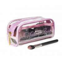 Buy Transparent PVC Cosmetic Bag Lovely Makeup Pouch Organizer With Multi Pockets at wholesale prices