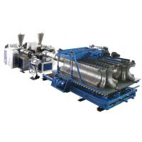 Quality HDPE / PP / PVC Horizontal Plastic Pipe Production Line For Double Wall Corrugated Pipe for sale