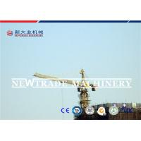 Buy Steel Building Tower Crane Certification CE , ISO , TUV 0-0.65r/min Slewing speed at wholesale prices