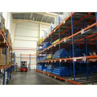 China Blue / Orange Heavy Duty Pallet Flow Racks For Storages Cold Steel Shelving on sale