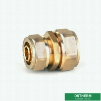 China Reducer Threaded Coupling Pex Fittings Brass Color ISO Standard Customized Designs And Weight for sale