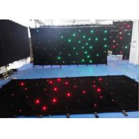 Quality Single Color Star Cloth Warm White Curtain Lights , Led Waterfall Curtain Lights DMX 512 for sale