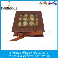 China Customized Logo Artpaper Ribbon Closure Chocolate Candy Package Storage Gift Box on sale