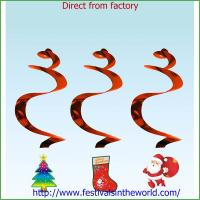Best christmas  Decoration Hanging Swirls Foil wholesale