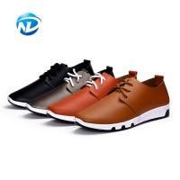Quality Good Quality Cheap Price Lace-up PU Shoes Soft Casual Shoes For Men for sale