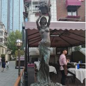 Quality Outdoor garden beautiful grace girl bronze sculpture ,customized bronze statues, China sculpture supplier for sale