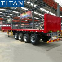 China TITAN 4 axles 48 ft container flatbed pulling semi trailer for sale on sale