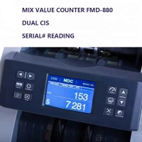 Quality FMD-880 factory price Two CIS Mix value counting machine bill counter value USD EUR mix denomination value counting for sale