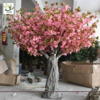 Best UVG CHR061 Fake Trees for Wedding pink cherry blossom 12ft high wholesale