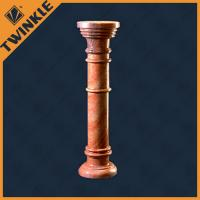 China Custom Polished Natural Stone Column / Round Red Pillar For Building on sale