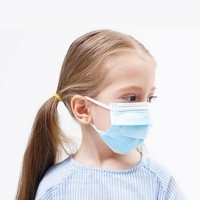 Quality Blue Melt Blown Non Woven Fabric Children Face Mask for sale