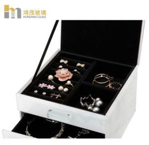 Quality Anti Scratch Jewelry Organizer Box / Glass Jewelry Box For Necklaces for sale