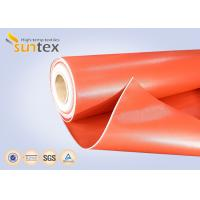 China Heat Resistant 550C Thermal Insulation Fabric / Silicone Rubber Coated Fiberglass Cloth  on sale