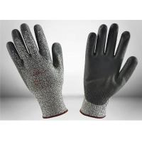 Quality Customized Color PU Palm Coated Gloves , Cut Level 5 Safety Gloves Light Weight for sale