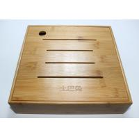 Buy Custom Square Gift Packaging Bamboo Display Box, Wooden Tea Storage Box With 4 Compartments And Lids at wholesale prices