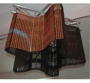 China Personalized DVI VGA, Svideo, DVD, TV Electronic Led Curtain Display Matrix Screens P31.25 on sale