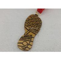 Buy cheap Die Casting Antique Triathlons Awards Medals , Zinc Alloy Antique 5K Medals from wholesalers