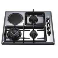 Quality Four Burners Gas And Electric Hob Battery / Electric Ignition Stainless Steel Material for sale